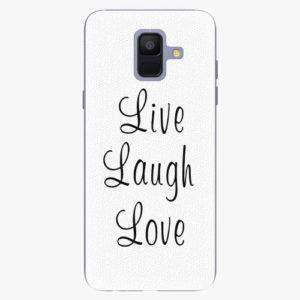 Plastový kryt iSaprio - Live Laugh Love - Samsung Galaxy A6