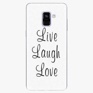 Plastový kryt iSaprio - Live Laugh Love - Samsung Galaxy A8 Plus