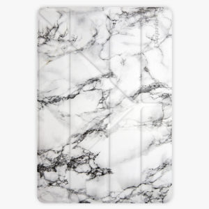 Pouzdro iSaprio Smart Cover - White Marble - iPad 9.7″ (2017-2018)