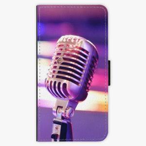 Flipové pouzdro iSaprio - Vintage Microphone - Huawei P20