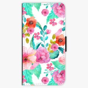 Flipové pouzdro iSaprio - Flower Pattern 01 - Samsung Galaxy A8 Plus