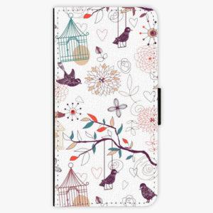 Flipové pouzdro iSaprio - Birds - Samsung Galaxy A8 Plus