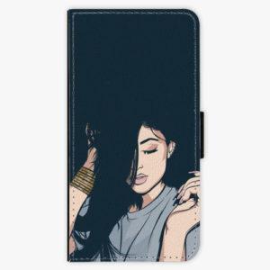 Flipové pouzdro iSaprio - Swag Girl - Samsung Galaxy A8 Plus