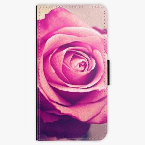 Flipové pouzdro iSaprio - Pink Rose - Samsung Galaxy A8 Plus