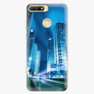 Plastový kryt iSaprio - Night City Blue - Huawei Y6 Prime 2018