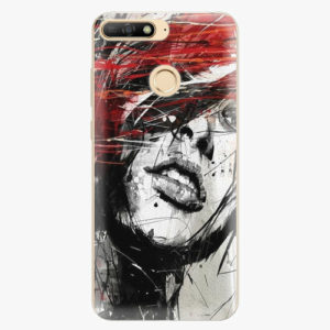 Plastový kryt iSaprio - Sketch Face - Huawei Y6 Prime 2018