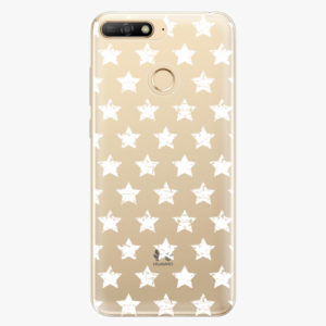 Plastový kryt iSaprio - Stars Pattern - white - Huawei Y6 Prime 2018