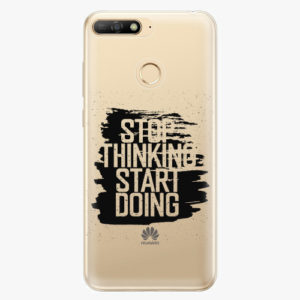 Plastový kryt iSaprio - Start Doing - black - Huawei Y6 Prime 2018