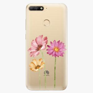 Plastový kryt iSaprio - Three Flowers - Huawei Y6 Prime 2018