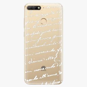 Plastový kryt iSaprio - Handwriting 01 - white - Huawei Y6 Prime 2018