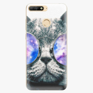 Plastový kryt iSaprio - Galaxy Cat - Huawei Y6 Prime 2018