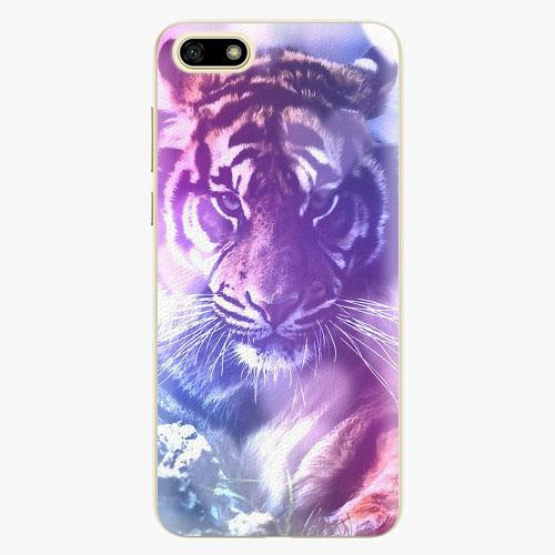 Plastový kryt iSaprio - Purple Tiger - Huawei Y5 2018