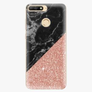 Plastový kryt iSaprio - Rose and Black Marble - Huawei Y6 Prime 2018