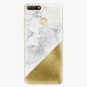 Plastový kryt iSaprio - Gold and WH Marble - Huawei Y6 Prime 2018