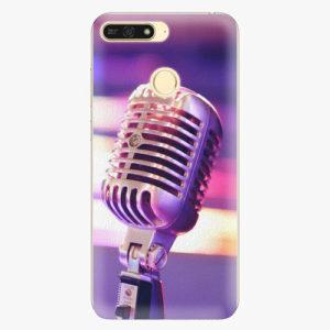 Plastový kryt iSaprio - Vintage Microphone - Huawei Honor 7A
