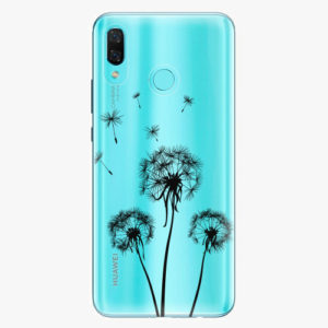 Plastový kryt iSaprio - Three Dandelions - black - Huawei Nova 3