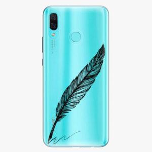 Plastový kryt iSaprio - Writing By Feather - black - Huawei Nova 3