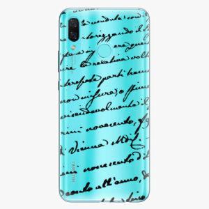 Plastový kryt iSaprio - Handwriting 01 - black - Huawei Nova 3