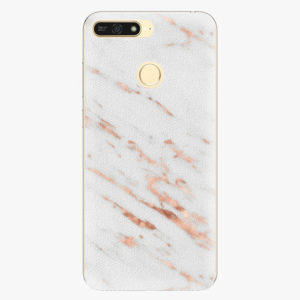 Plastový kryt iSaprio - Rose Gold Marble - Huawei Honor 7A