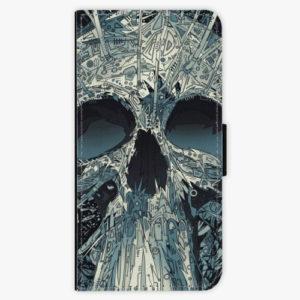Flipové pouzdro iSaprio - Abstract Skull - Huawei Nova 3
