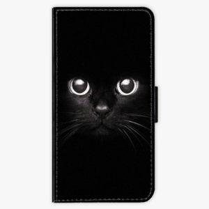 Flipové pouzdro iSaprio - Black Cat - Huawei Y6 Prime 2018