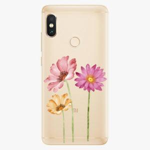 Plastový kryt iSaprio - Three Flowers - Xiaomi Redmi Note 5
