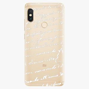 Plastový kryt iSaprio - Handwriting 01 - white - Xiaomi Redmi Note 5