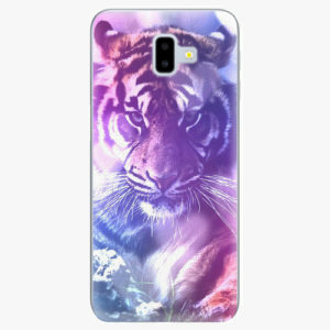 Plastový kryt iSaprio - Purple Tiger - Samsung Galaxy J6+