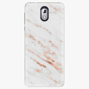 Plastový kryt iSaprio - Rose Gold Marble - Nokia 3.1