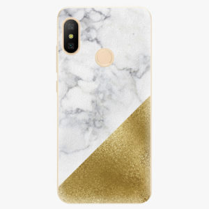 Plastový kryt iSaprio - Gold and WH Marble - Xiaomi Mi A2 Lite