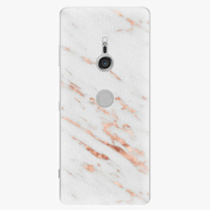 Plastový kryt iSaprio - Rose Gold Marble - Sony Xperia XZ3