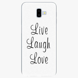 Plastový kryt iSaprio - Live Laugh Love - Samsung Galaxy J6+