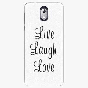 Plastový kryt iSaprio - Live Laugh Love - Nokia 3.1