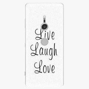 Plastový kryt iSaprio - Live Laugh Love - Sony Xperia XZ3