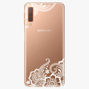 Plastový kryt iSaprio - White Lace 02 - Samsung Galaxy A7 (2018)
