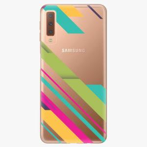 Plastový kryt iSaprio - Color Stripes 03 - Samsung Galaxy A7 (2018)