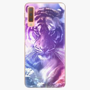 Plastový kryt iSaprio - Purple Tiger - Samsung Galaxy A7 (2018)