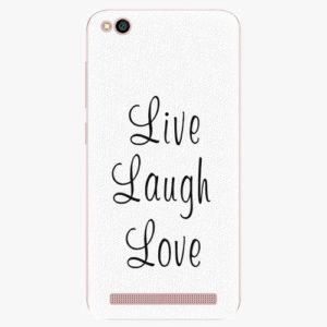 Plastový kryt iSaprio - Live Laugh Love - Xiaomi Redmi 5A