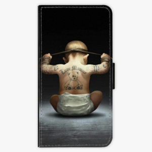 Flipové pouzdro iSaprio - Crazy Baby - iPhone XS