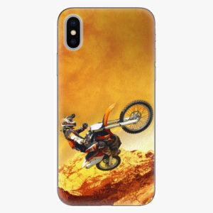 Silikonové pouzdro iSaprio - Motocross - iPhone X