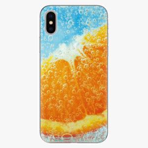Silikonové pouzdro iSaprio - Orange Water - iPhone X