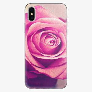 Silikonové pouzdro iSaprio - Pink Rose - iPhone X