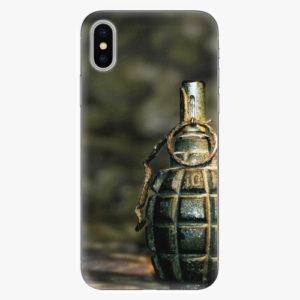 Silikonové pouzdro iSaprio - Grenade - iPhone X