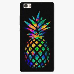 Silikonové pouzdro iSaprio - Rainbow Pineapple - Huawei Ascend P8 Lite
