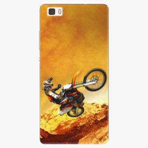 Silikonové pouzdro iSaprio - Motocross - Huawei Ascend P8 Lite