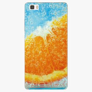 Silikonové pouzdro iSaprio - Orange Water - Huawei Ascend P8 Lite