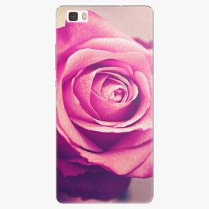 Silikonové pouzdro iSaprio - Pink Rose - Huawei Ascend P8 Lite