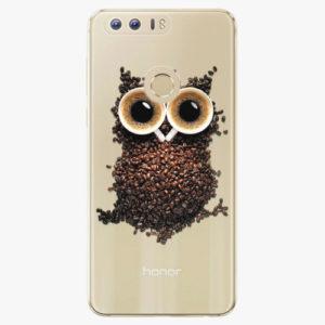 Silikonové pouzdro iSaprio - Owl And Coffee - Huawei Honor 8