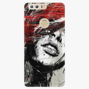 Silikonové pouzdro iSaprio - Sketch Face - Huawei Honor 8