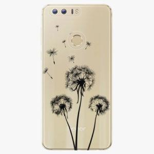 Silikonové pouzdro iSaprio - Three Dandelions - black - Huawei Honor 8